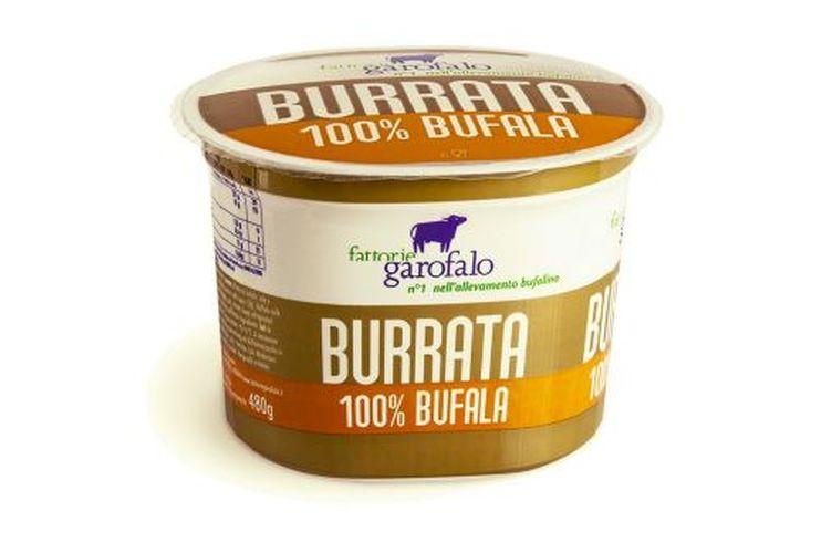 "Burrata din lapte de bivolita (di bufala) 125 g in tub de plastic – Producator ""Garofalo""-0"