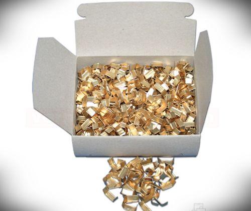 Cleme – aurii – 33 mm pentru închiderea pungulitelor de cadouri – 1000 buc-0